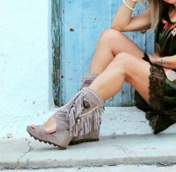 sandalias tipo botas