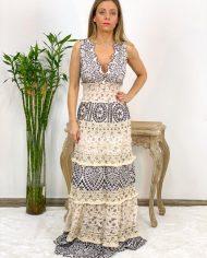 2010000495 Vestido Bordado Largo B&W. ropa boho chic kimscut collection (2)