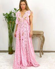 2010000498 Vestido Largo Bordado rosa. Ropa boho chic kimscut collection (13)