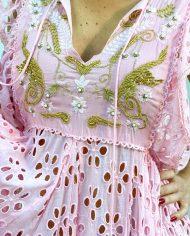 2010000498 Vestido Largo Bordado rosa. Ropa boho chic kimscut collection (14)