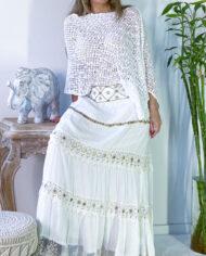 2010000800 Falda blonda blanca boho chic kimscut collection ( (20)
