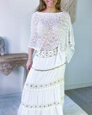 2010000800 Falda blonda blanca boho chic kimscut collection ( (23)