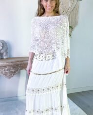2010000800 Falda blonda blanca boho chic kimscut collection ( (24)
