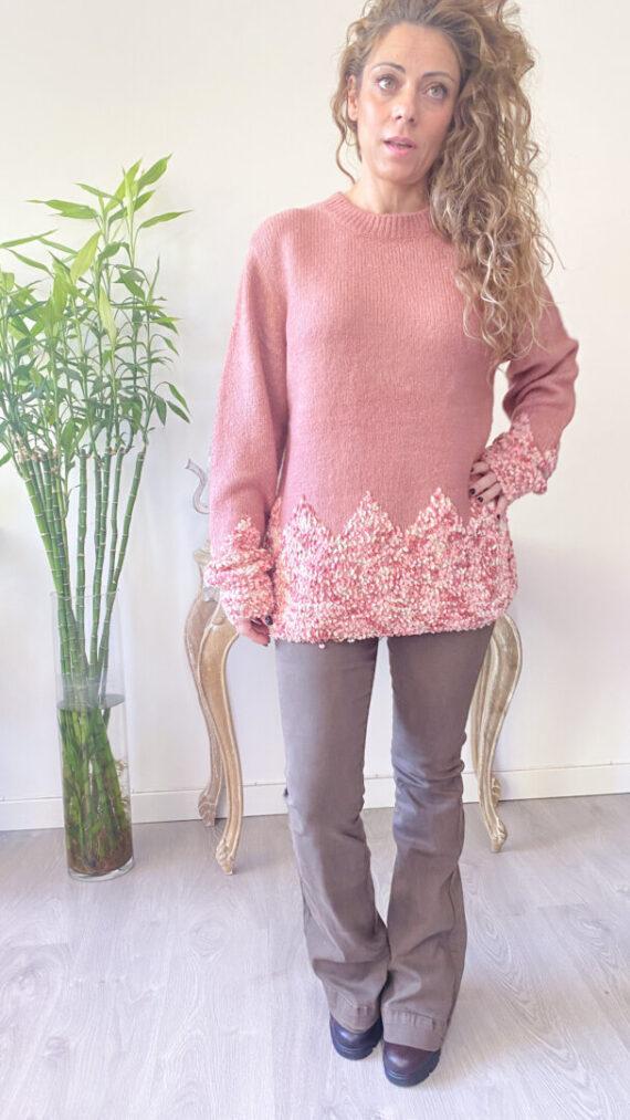Jersey boho chic Aura rosa