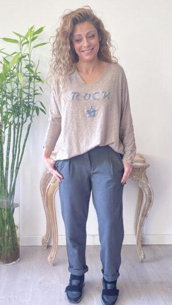 Jersey boho chic rock camel (