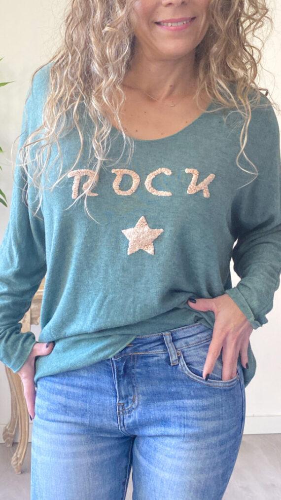 Jersey boho chic rock verde