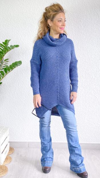 Jersey boho chic vilna azul