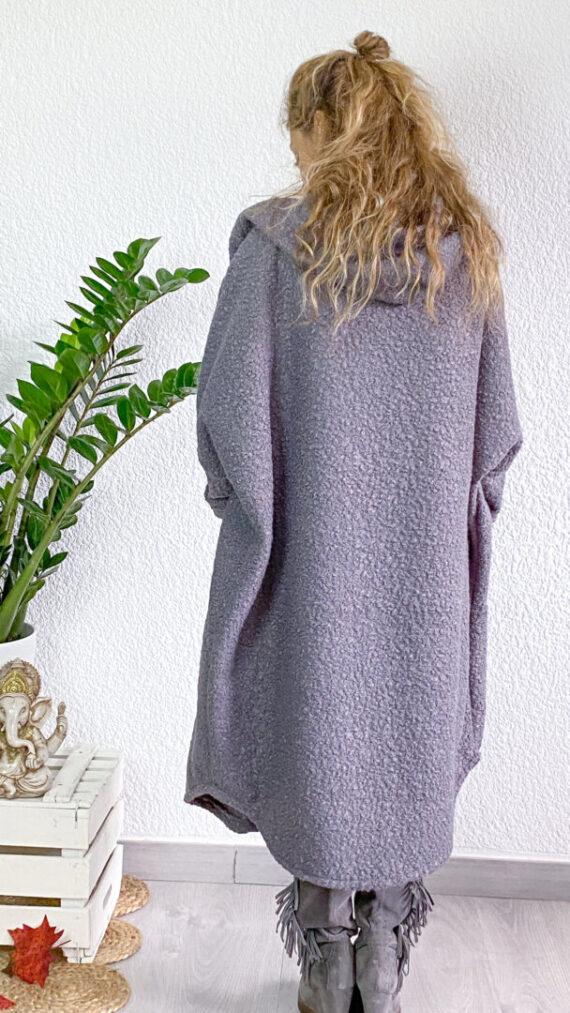 abrigo boho chic Forest gris (2)