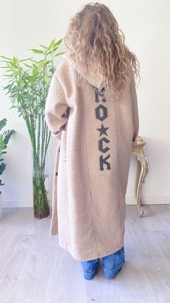 abrigo boho chic rock camel