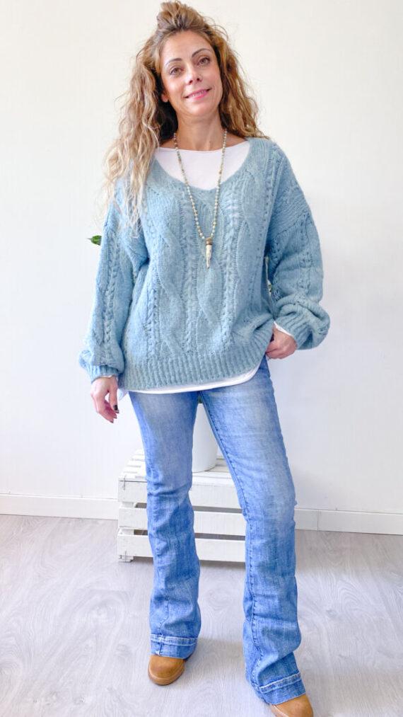 Jersey Turin Azul Turquesa