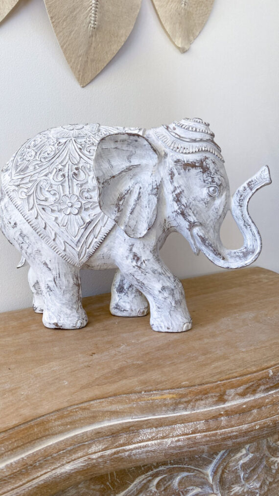 Elefante bohochic blanco