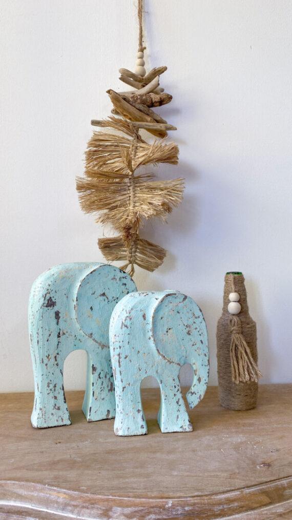 Elefantes boho chic aqua