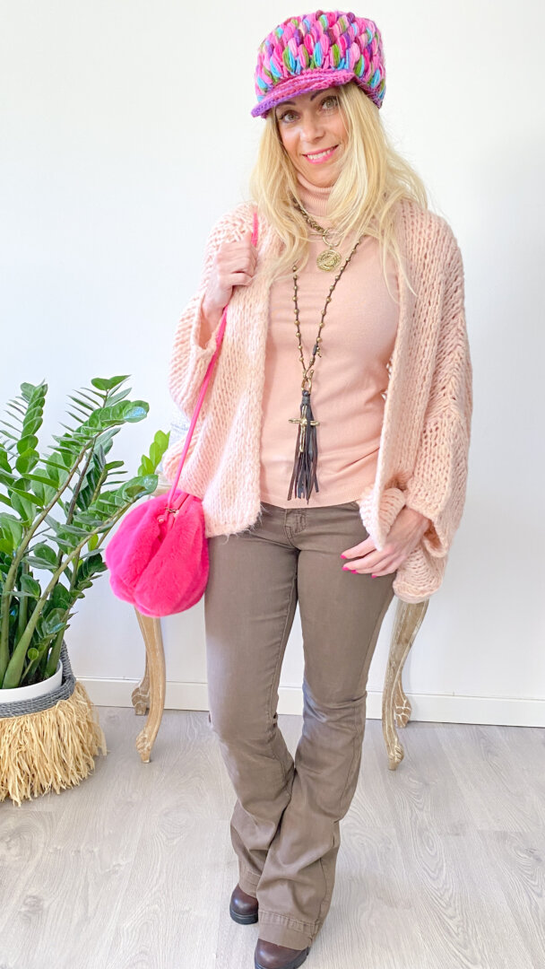 cardigan boho chic bambu rosa