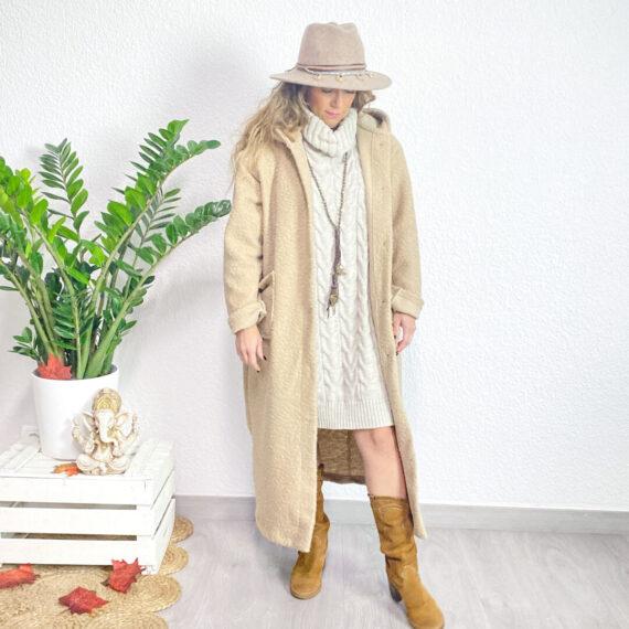 jersey vestido boho chic Arlette beige