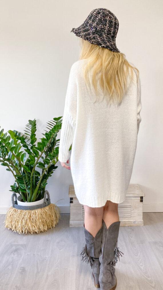 jersey vestido boho chic sally blanco