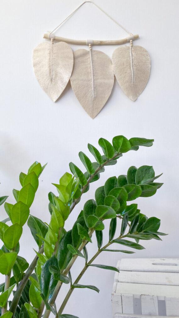 panel boho chic padang hojas