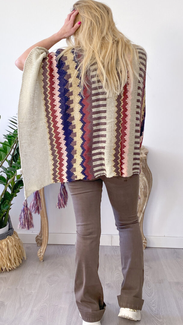 poncho boho chic tribal