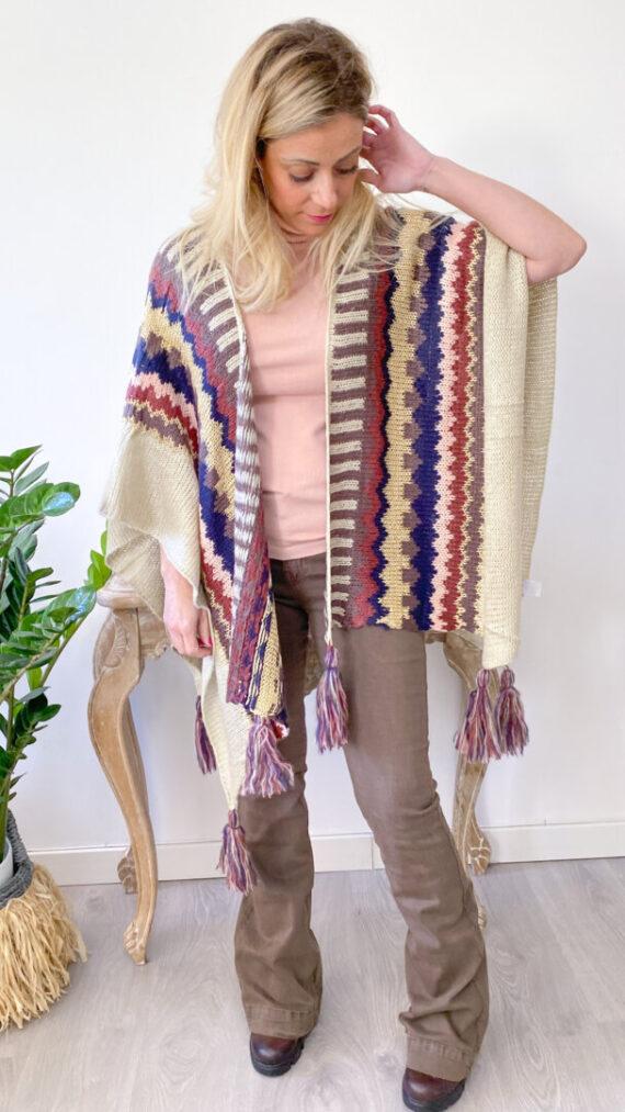 poncho boho chic tribal