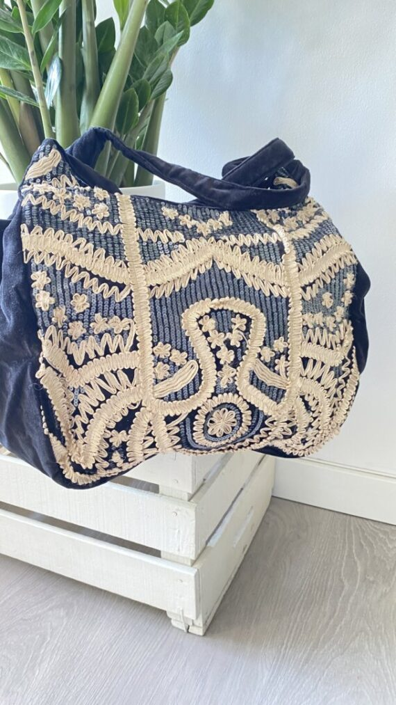 shopper boho chic velvet